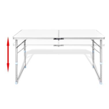 Składany stół kempingowy 4 krzesła i regulowana wysokość 120 x 60 cm[3/9]