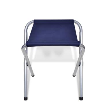Składany stół kempingowy 4 krzesła i regulowana wysokość 120 x 60 cm[8/9]