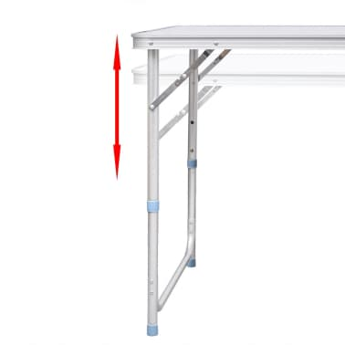 vidaXL Zestaw turystyczny: stół i 6 stołków, regulacja wysokości[5/10]
