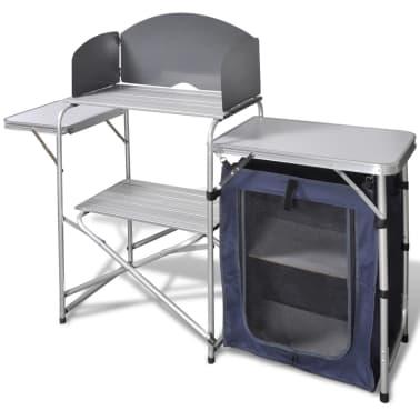 Campingkeuken inklapbaar met aluminium windscherm[1/5]