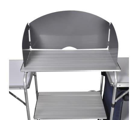 Campingkeuken inklapbaar met aluminium windscherm[4/5]