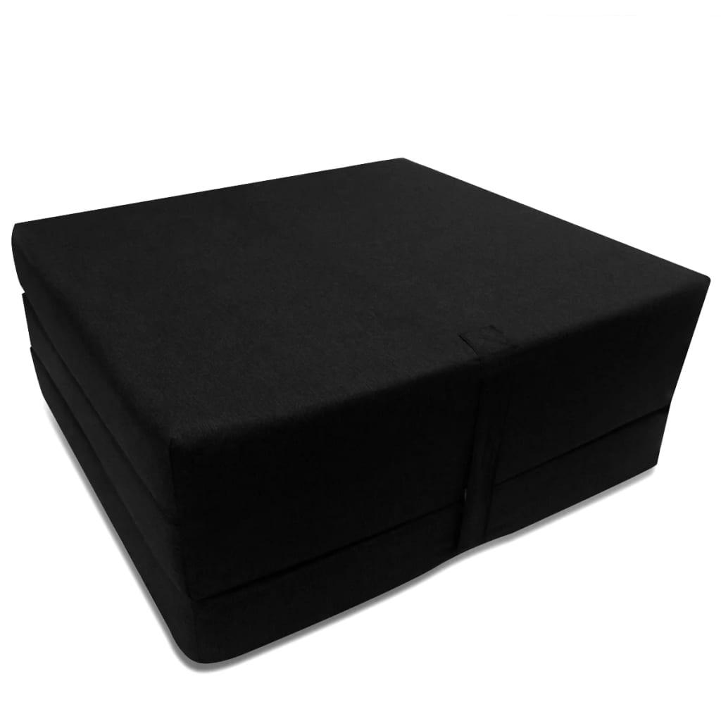 Schuimmatras opklapbaar zwart 190x70x9 cm