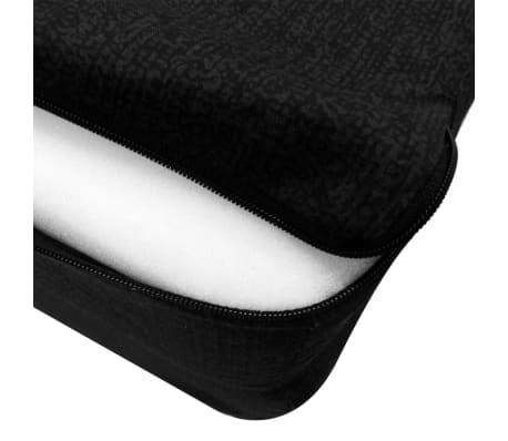 vidaXL Čiužinys, trijų dalių, putplastis, 190x70x9cm, juodas[4/4]