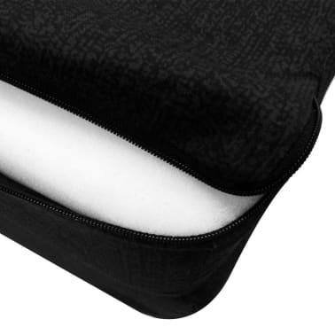 vidaXL Schuimmatras opklapbaar zwart 190x70x9 cm[4/4]
