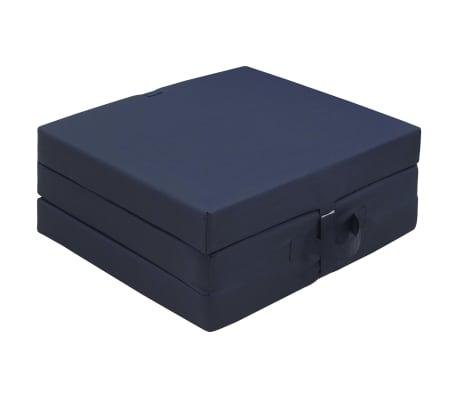 vidaXL Schuimmatras opklapbaar blauw 190x70x9 cm[5/6]
