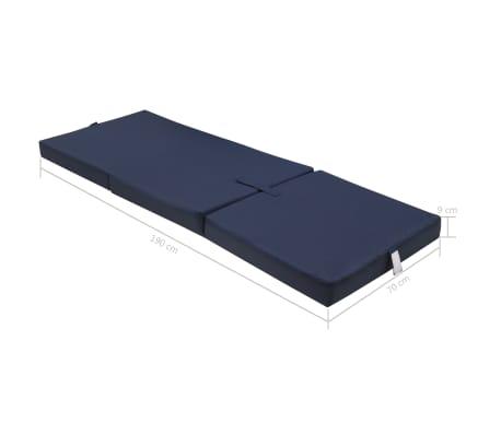 vidaXL Schuimmatras opklapbaar blauw 190x70x9 cm[6/6]