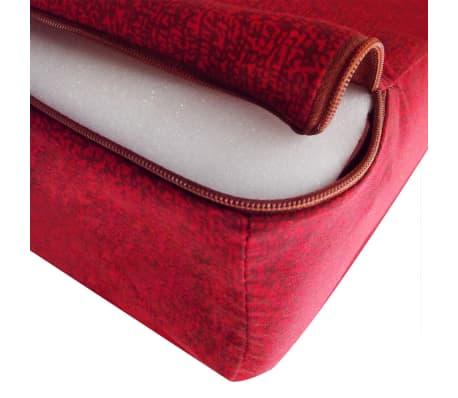 vidaXL Matelas en mousse pliable en 3 sections 190 x 70 x 9 cm Rouge[4/4]