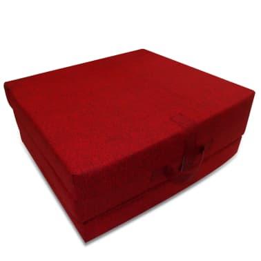 vidaXL Matelas en mousse pliable en 3 sections 190 x 70 x 9 cm Rouge[2/4]