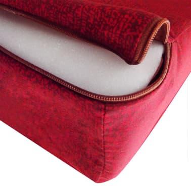 vidaXL Colchón de espuma plegable 190 x 70 x 9 cm rojo[4/4]