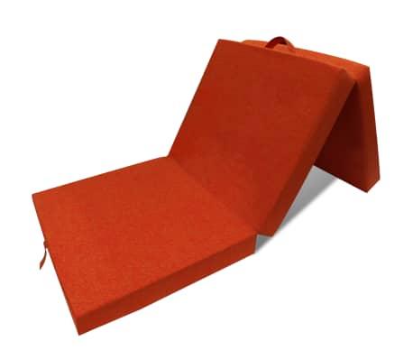 vidaXL Schuimmatras opklapbaar oranje 190x70x9 cm[1/4]