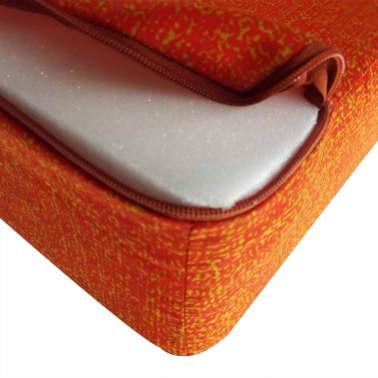 vidaXL Schuimmatras opklapbaar oranje 190x70x9 cm[4/4]