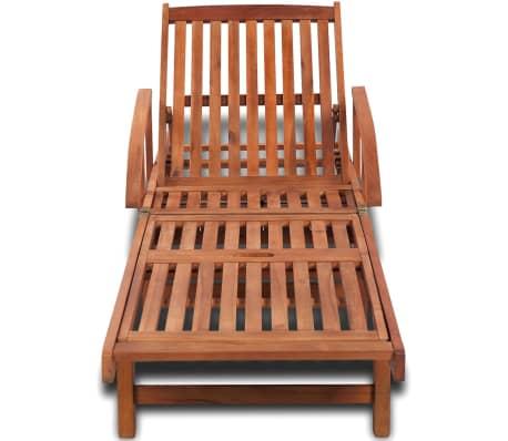 Wooden 5-position Adjustable Sun Lounger[2/6]