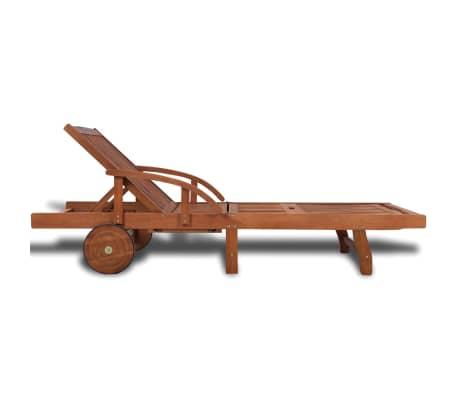 Wooden 5-position Adjustable Sun Lounger[4/6]