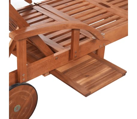 Wooden 5-position Adjustable Sun Lounger[5/6]