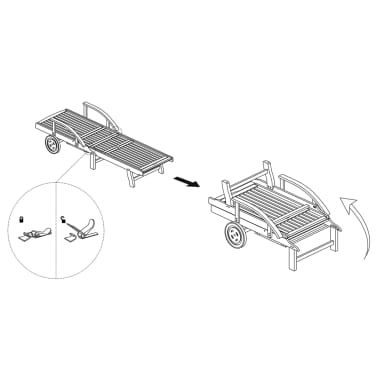 Wooden 5-position Adjustable Sun Lounger[6/6]