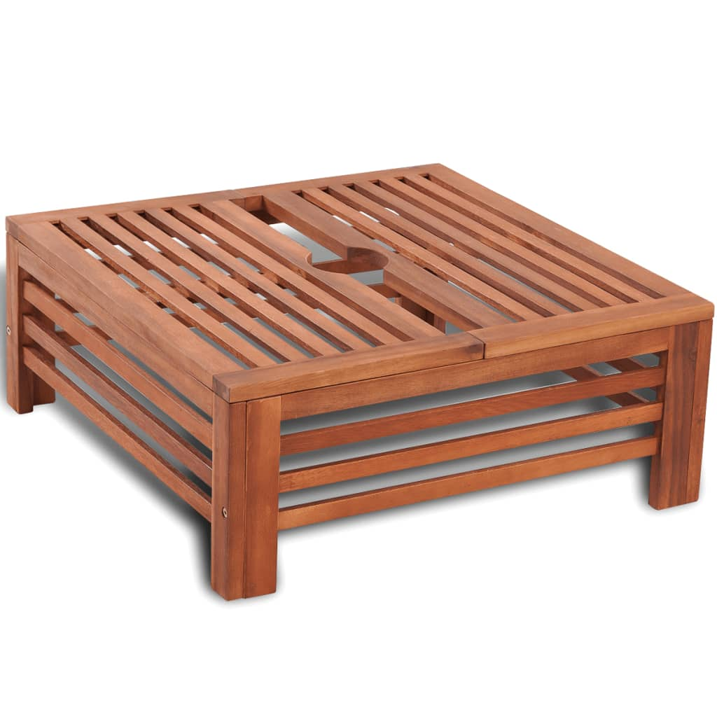Afbeelding van vidaXL Parasolvoetbedekking hout