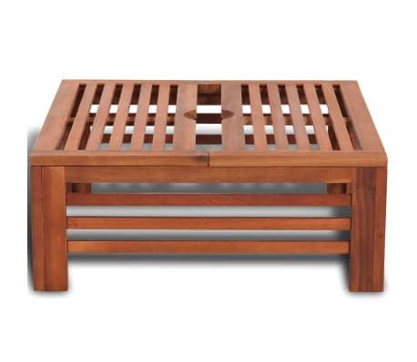 Sonnenschirm-Standfußverkleidung aus Holz[3/6]