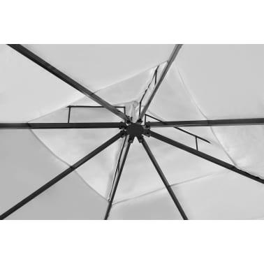 vidaXL Шатра с покрив, 3х4 м, кремавобяла[4/7]
