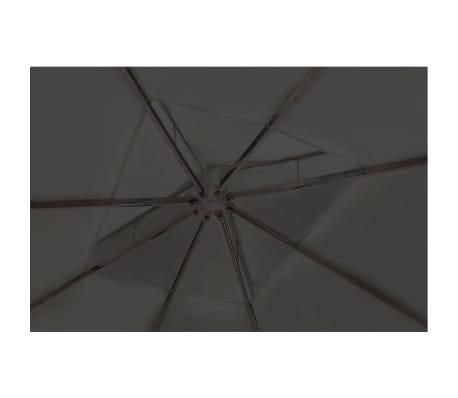 vidaXL Altánok so strechou 3x4 m, tmavosivý[4/7]