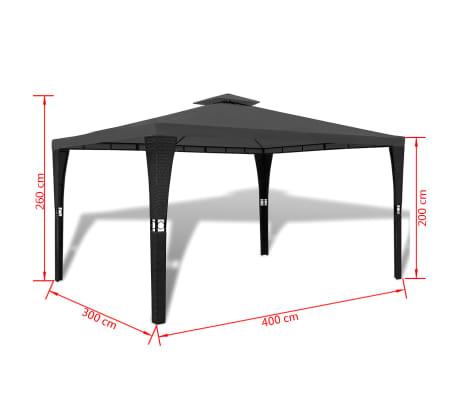vidaXL Altánok so strechou 3x4 m, tmavosivý[7/7]