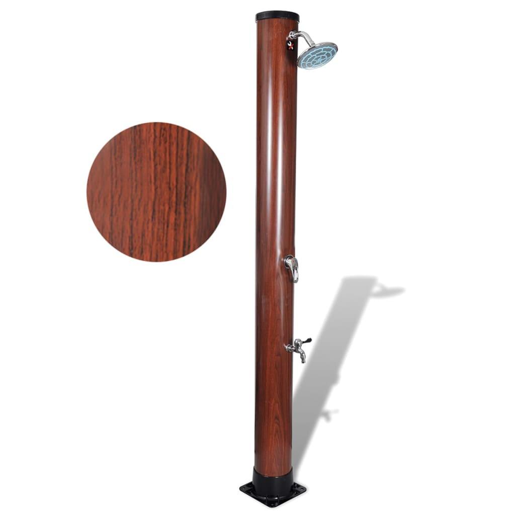 Image of vidaXL 1.96 m Pool Solar Shower with Faux Wood Finish