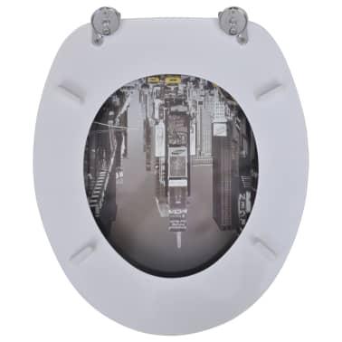 Tapa de wc de madera MDF, con modelo de Nueva York[5/9]