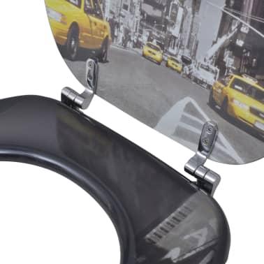 Tapa de wc de madera MDF, con modelo de Nueva York[6/9]