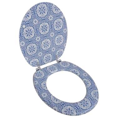 Toiletsæde med låg af MDF, porcelænsdesign[1/9]