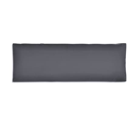 vidaXL Cuscino di Appoggio Imbottito Grigio 120 x 40 x 10 cm[2/3]