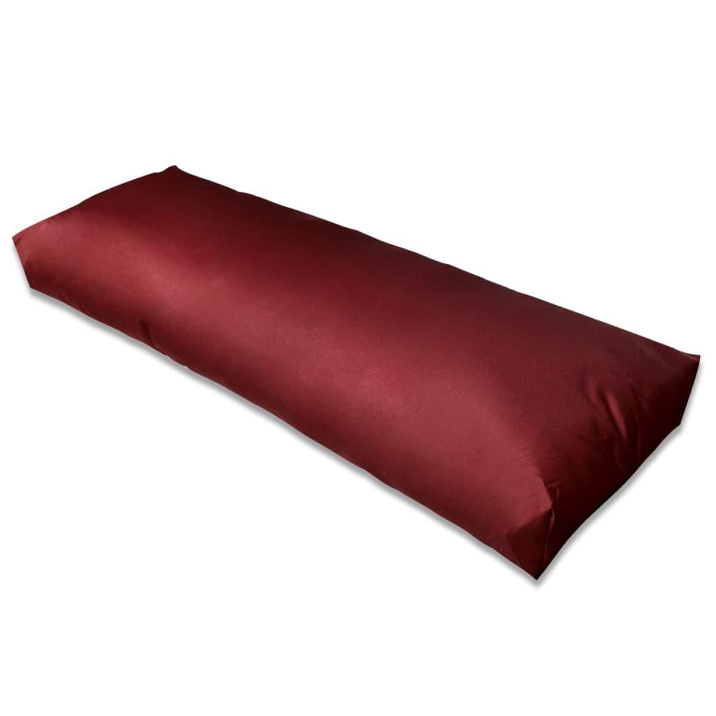 Vínově červený čalouněný polštář pod záda 120 x 40 x 20 cm