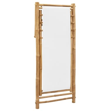 vidaXL Outdoor Deck Chair Bamboo and Canvas[6/6]