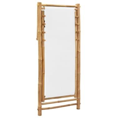 vidaXL Liegestuhl Klappbar Bambus und Segeltuch[6/6]