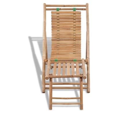 Stolica/ležaljka za sunce od bambusa , s naslonom za noge[2/7]