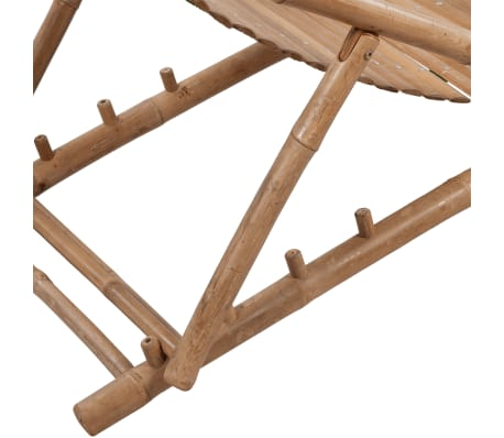 Stolica/ležaljka za sunce od bambusa , s naslonom za noge[4/7]