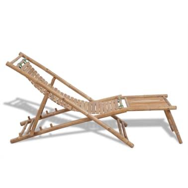 Stolica/ležaljka za sunce od bambusa , s naslonom za noge[3/7]