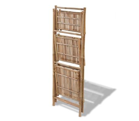 Estanteria De Bambu Plegable Con 3 Niveles Para Plantas Vidaxles - Estanteria-para-plantas