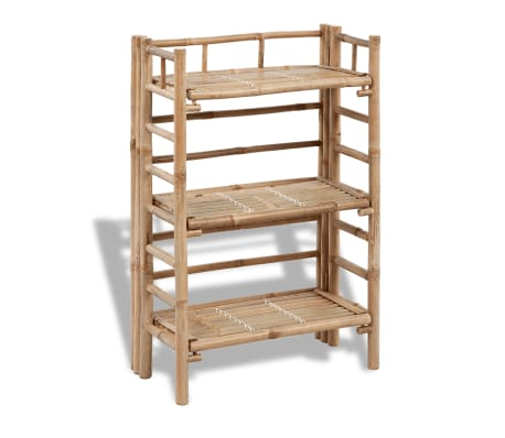 vidaXL 3-tier Bamboo Plant Rack