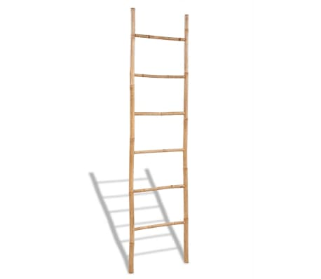 Bamboo Towel Ladder with 6 Rungs[1/4]