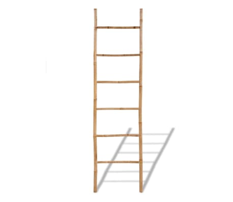 Bamboo Towel Ladder with 6 Rungs[2/4]