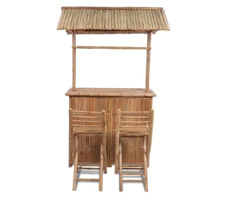 acheter vidaxl comptoir de bar 3 pcs bambou pas cher. Black Bedroom Furniture Sets. Home Design Ideas
