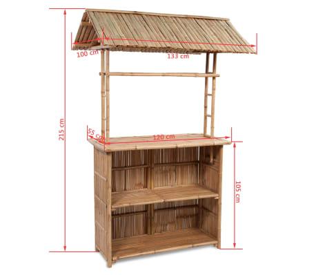 vidaXL Caféset 3 delar bambu[6/7]