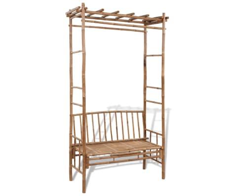 vidaxl bambus gartenbank sitzbank pergola bank gartenm bel rankhilfe rosenbogen ebay. Black Bedroom Furniture Sets. Home Design Ideas