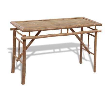 vidaXL Table de picnic/bière pliable en bambou avec 2 bancs Table de ...