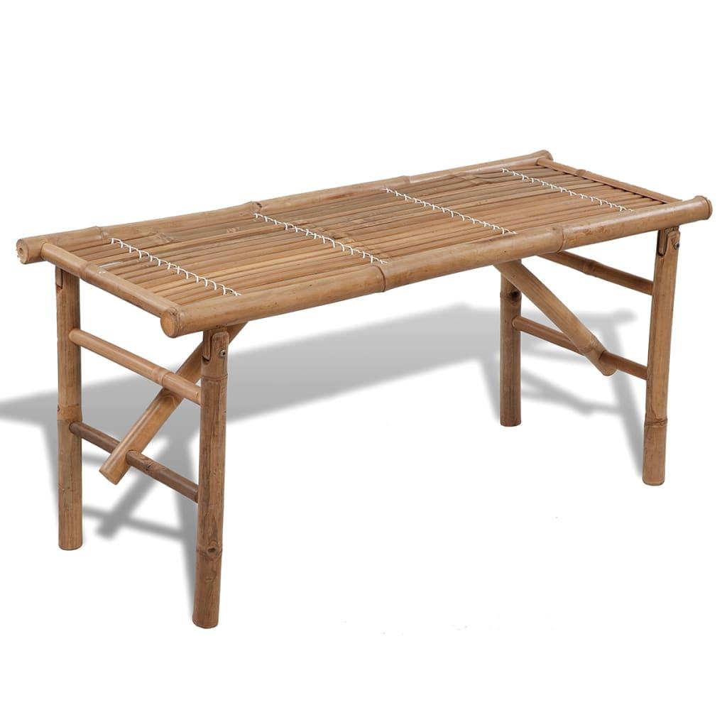 Bancă pliabilă din lemn de bambus vidaxl.ro