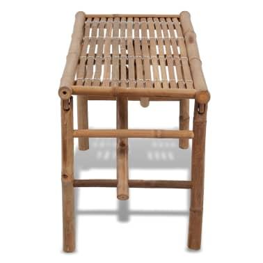 acheter vidaxl banc pliable en bambou pas cher. Black Bedroom Furniture Sets. Home Design Ideas