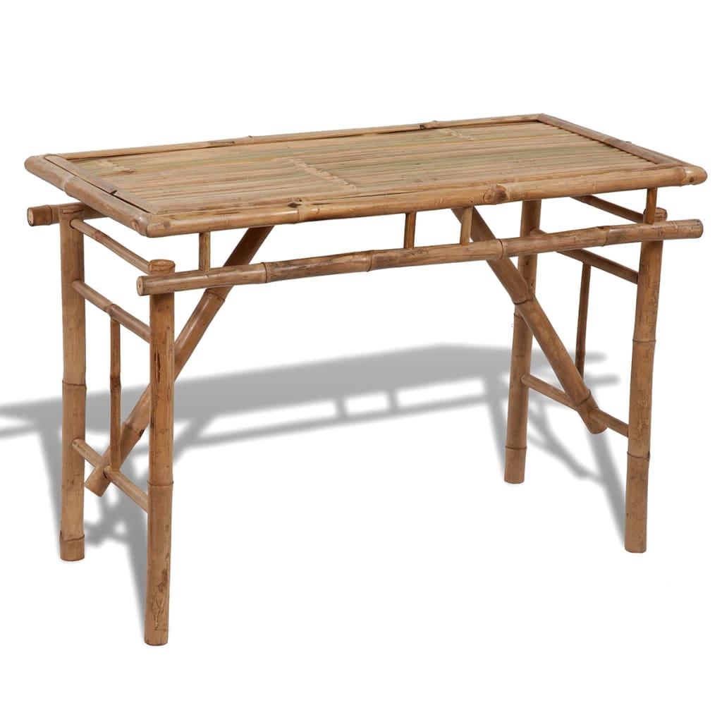 vidaXL Składany stół ogrodowy, 120x50x77 cm, bambusowy