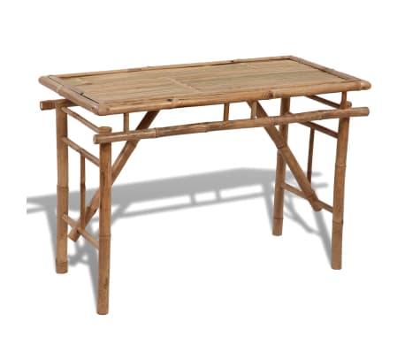 Brilliant Details About Vidaxl Folding Outdoor Table Bamboo 47 2 Garden Patio Camp Dining Furniture Customarchery Wood Chair Design Ideas Customarcherynet