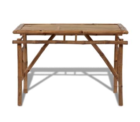 Tavolo Pieghevole Per Esterno.Vidaxl Tavolo Tavolino Pieghevole Richiudibile In Legno Di Bambu