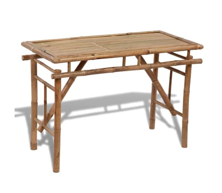Vidaxl Folding Outdoor Table Bamboo 47