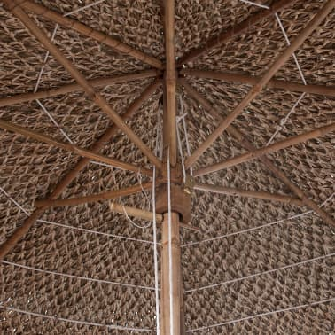 "vidaXL Bamboo Parasol 106.3"" with Banana Leaf Roof[2/4]"